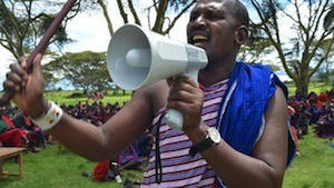 The Maasai raise their voices to the PM
