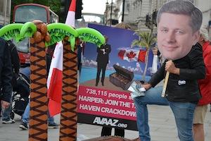 Члены Авааз призывают премьер-министра Канады Харпера принять меры по борьбе с сокрытием налогов