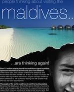 Anúncio publicitário nas Maldivas
